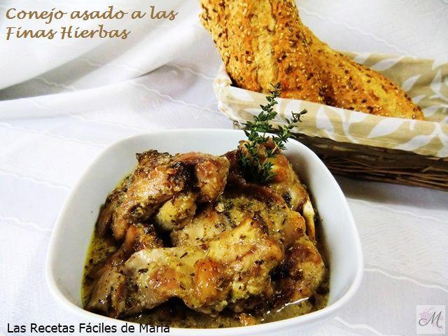 Conejo Asado a las Finas Hierbas receta en vídeo