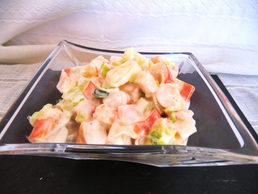 Ensalada de Piña y Frutos del Mar sin Gluten