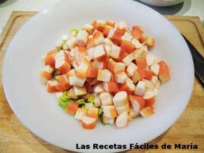 surimi para Ensalada de piña con frutos de mar