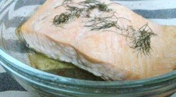 receta salmón al horno con aroma de eneldo
