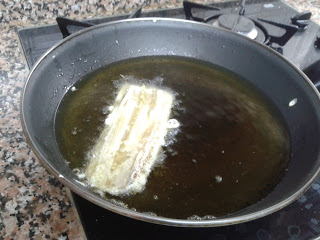 pencas de acelga rellenas de jamón serrano paso 2