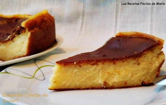 quesada tarta de queso Las Recetas Fáciles de María