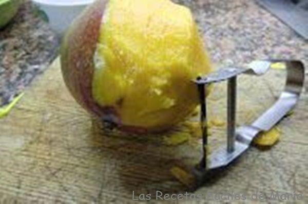 mango para ensalada de agucate y tallarines de mango