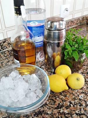 ingredientes para el mojito casi tradicional