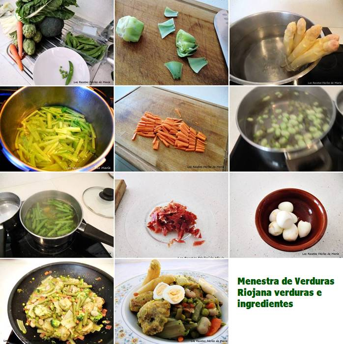 menestra riojana verduras e ingredientes