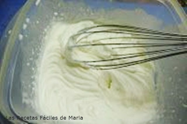 Crema de nata y queso para Tarta de Queso al Revés #lasrecetasfacilesdemaria