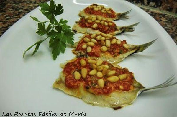 sardinas asadas con salsa de piquillos receta