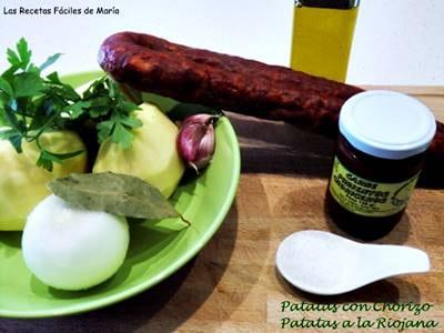 patatas con chorizo a La Riojana receta tradicional ingredientes