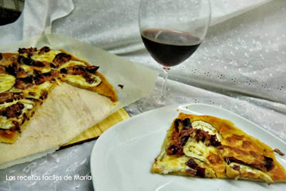 Pizza de Tomates Secos y Berenjenas