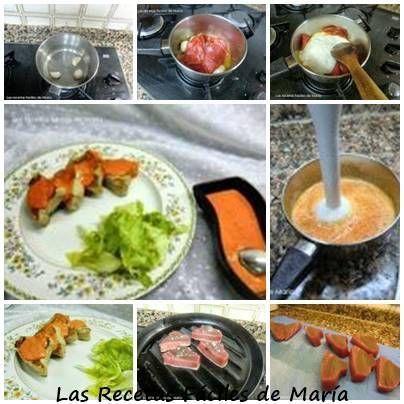 Solomillo de Atún con Salsa de Piquillos receta paso a paso