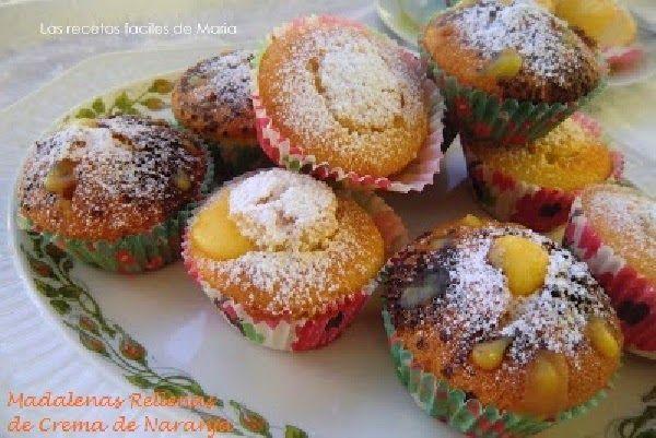 Magdalenas rellenas de Crema de Naranja (orange Curd)