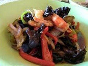 receta Langostinos Salteados Goong pad Khing. Tailandia en casa