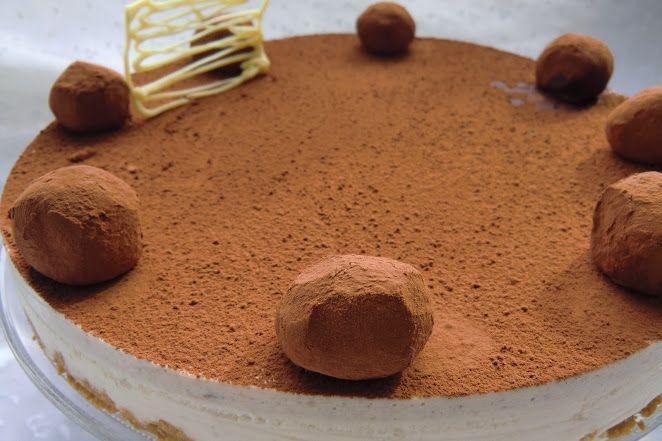 Tarta de Crema de Castañas con Mascarpone y Cacao