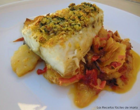 Corvina al Horno con Patatas y Verduritas Las Recetas Fáciles de María