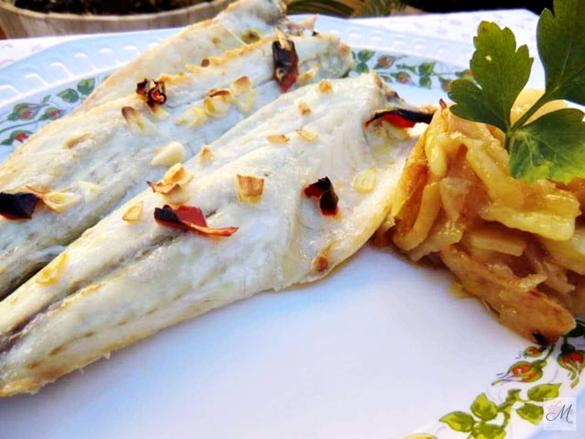 """Lubina a la Bilbaina con """"mis"""" Patatas Panadera"""