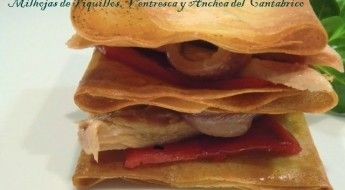 Milhojas de Piquillos con Ventresca de Atún y Anchoas del Cantábrico