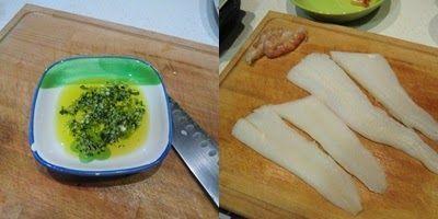 Filetes de halibut con langostinos paso 1