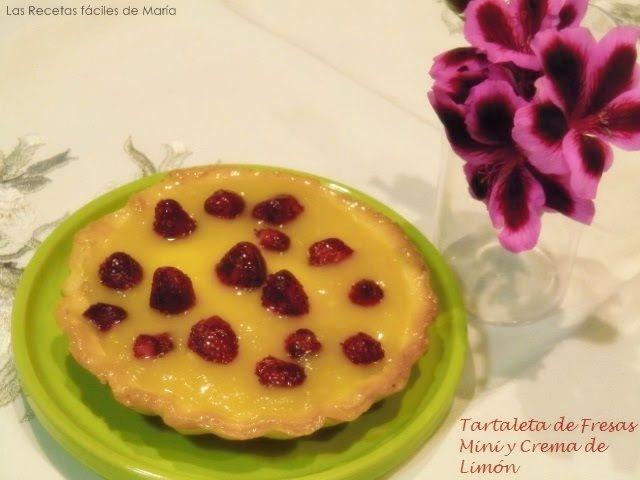 tartaleta de fresas y crema de limón presentación
