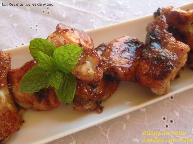 alitas de pollo asadas con miel receta