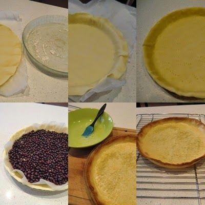 Masa quebrada tarta de limón y merengue