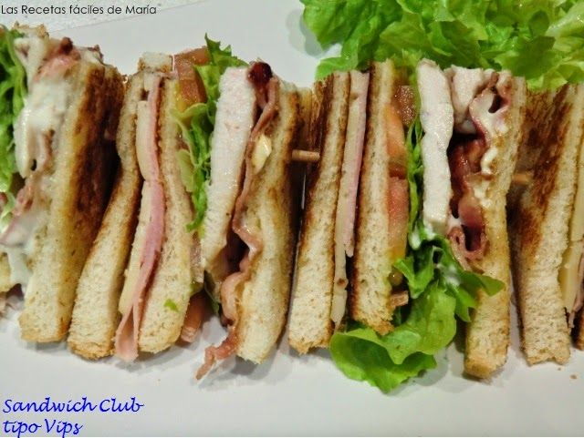 Sandwich Club tipo Vips Las Recetas Fáciles de María