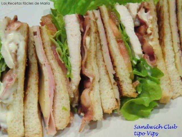 Sándwich Club tipo Vips