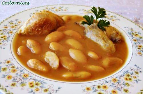 Fabes con codornices vs pochas con codornices receta de cocina