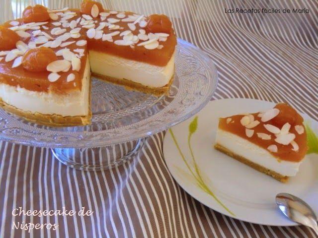 Receta Cheesecake Tarta de Queso con Nísperos