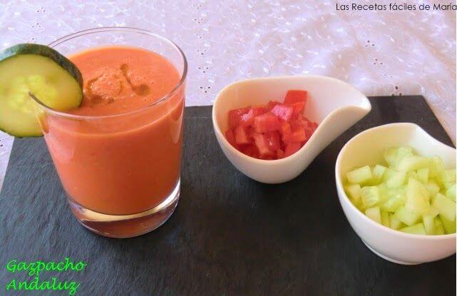 receta gazpacho andaluz casero Las Recetas Fáciles de María