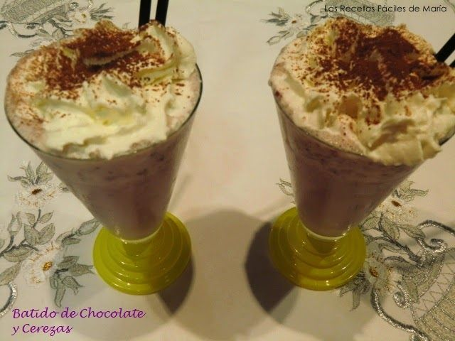 Batido de Chocolate y Cerezas