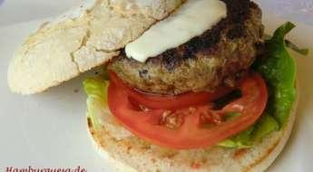 hamburguesa de buey kobe con crema de queso Las Recetas Fáciles de María