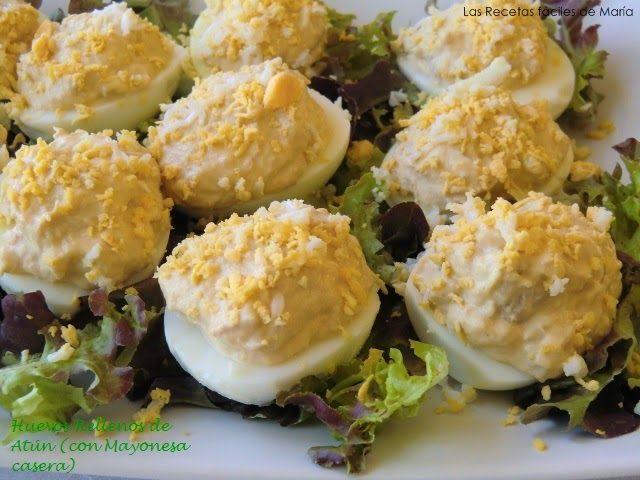 Huevos Rellenos de Atún con Mayonesa Casera