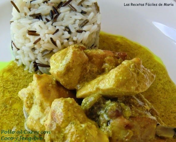 Pollo al Curry con coco y Jengibre
