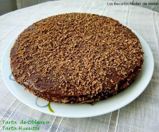 tarta de obleas y nutella o tarta huesitos