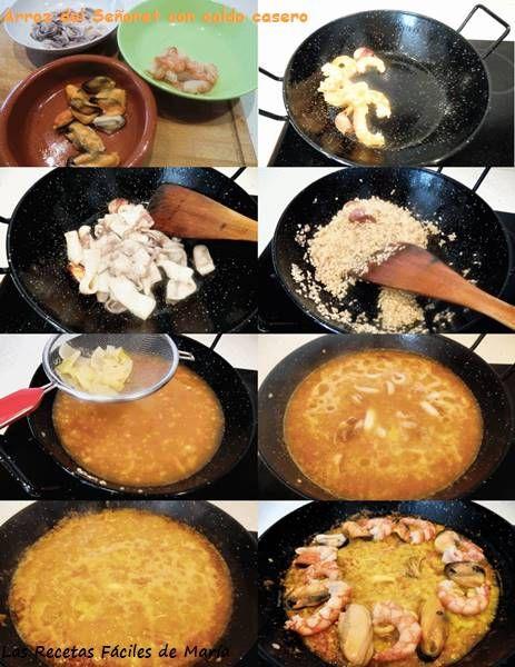 arroz del señoret con caldo casero receta paso a paso