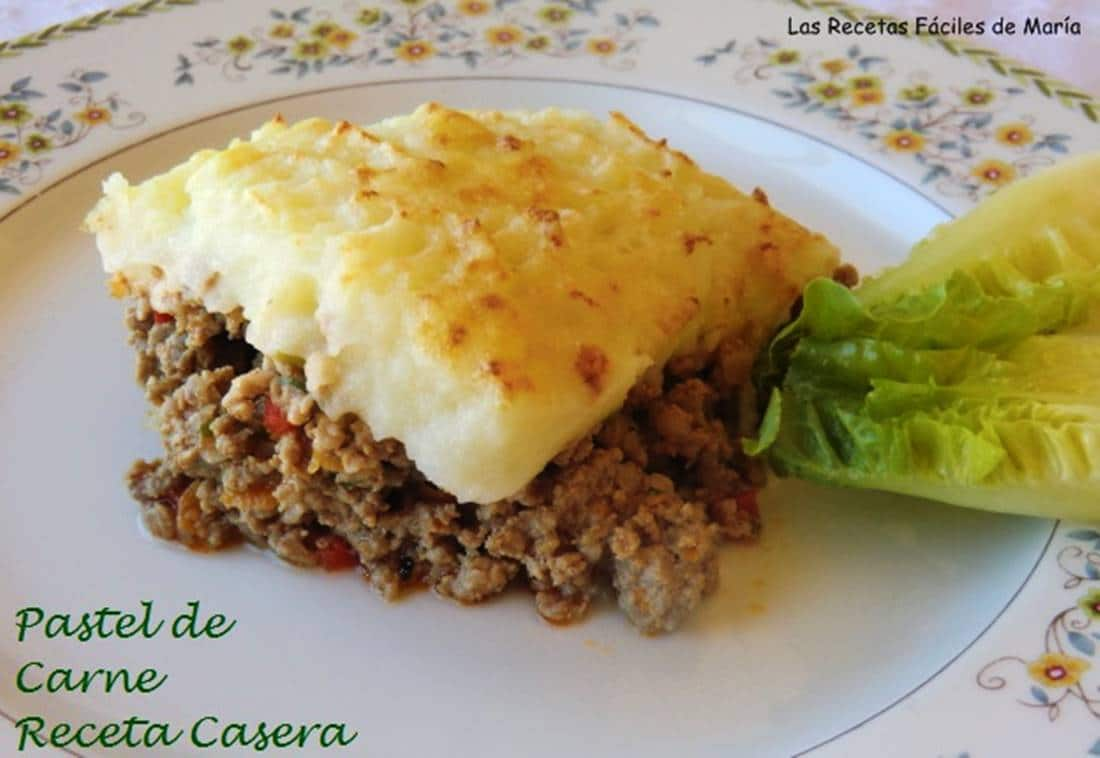 Pastel de Carne receta Casera-Cotagge Pie