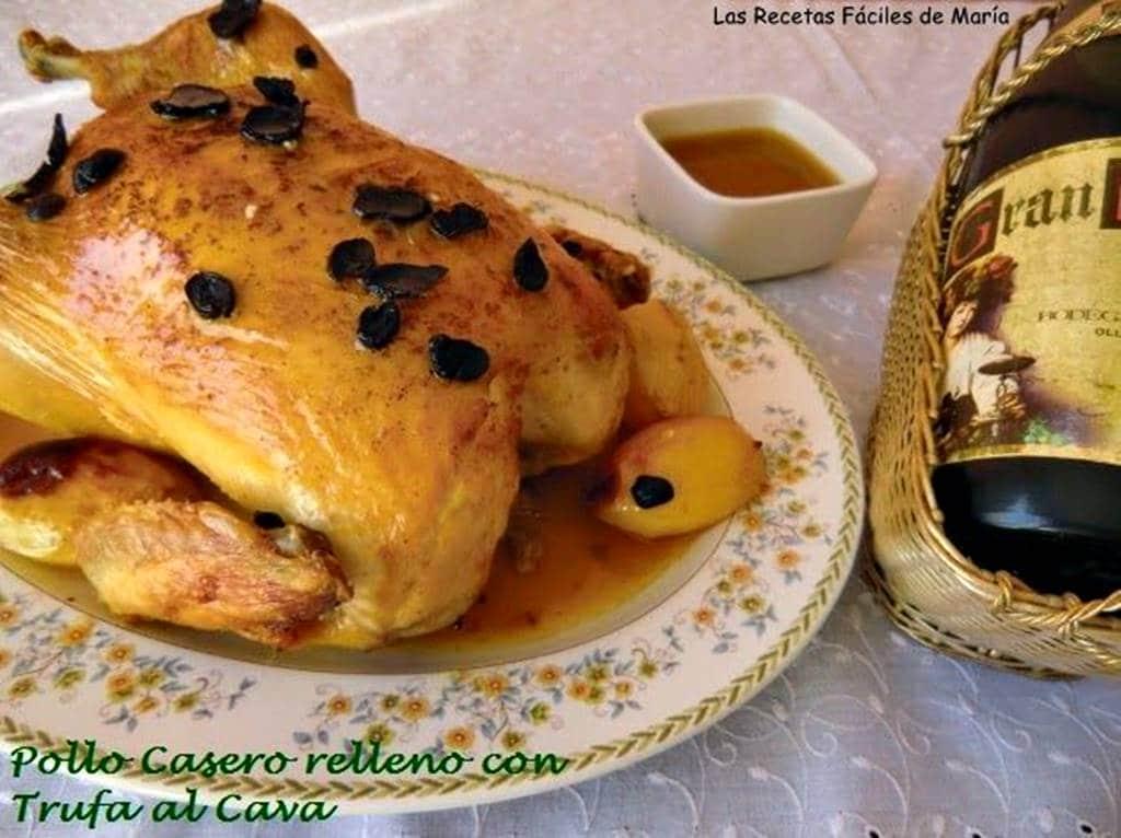 Pollo Casero relleno con Trufa al Cava para Navidad