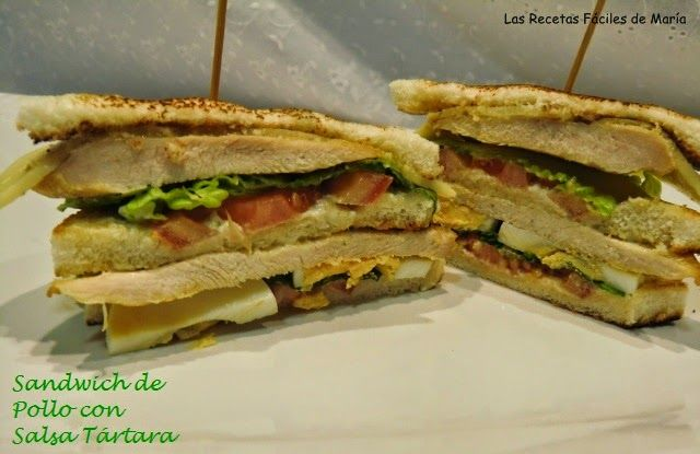 sándwich de pollo con salsa tártara receta
