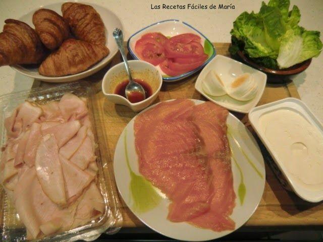 Ingredientes Croissants de Salmón con queso y Lacón con Pimentón