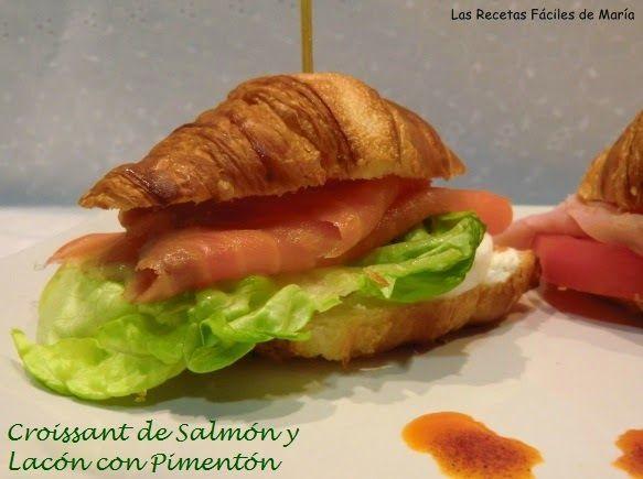 Croissants de Salmón con queso y Lacón con Pimentón