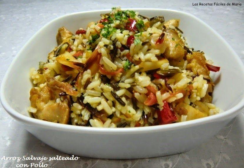 Las recetas f ciles de mar aarroz salvaje salteado con - Salteado de arroz ...