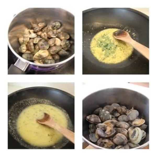 cómo se hacen almejas en salsa verde receta fácil y deliciosa paso 2