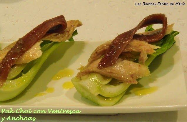 Pak Choi con ventresca y anchoas del Cantábrico