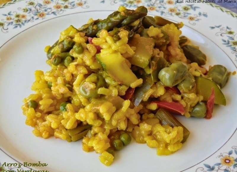 Las recetas f ciles de mar apaella de arroz bomba con verduras for Como hacer paella de verduras
