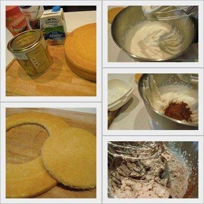 como se hace tarta de trufa y nata con ganache de chocolate paso 1
