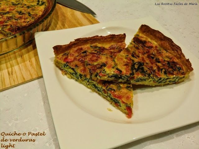 Receta Quiche o Pastel de Acelgas Light
