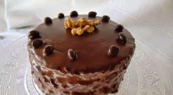 Tarta de Trufa y Nata con Ganache de Chocolate para San Valentin Receta