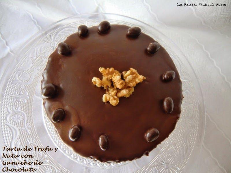Tarta de Trufa y Nata con ganache de Chocolate para San Valentín
