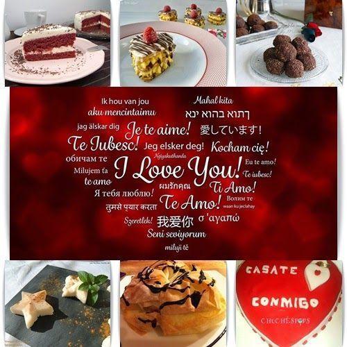 Postres y Dulces para San Valentín recopilación de recetas