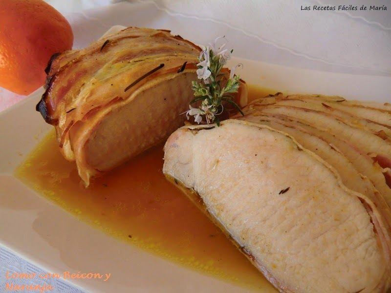 Lomo con beicon y Naranja